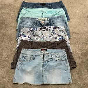 5 shorts + 1 skirt bundle
